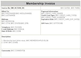 Membership invoicing