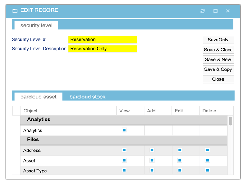 Record editing