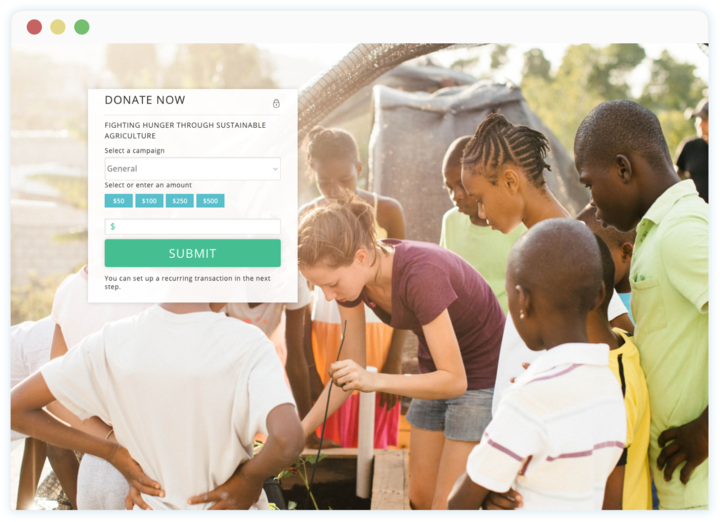 Desktop donations