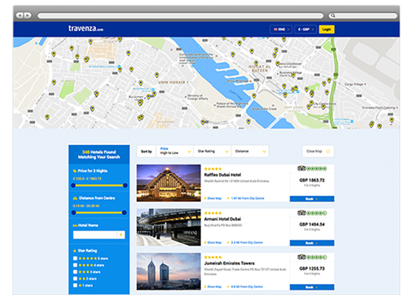 Booking map