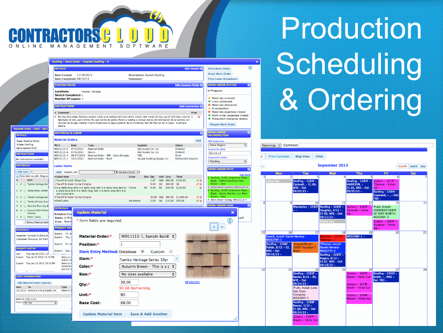 Scheduling and ordering