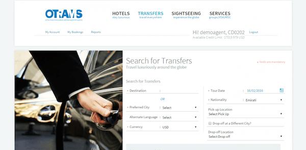 Transfers screen