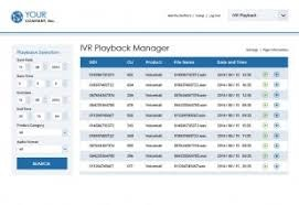IVR playback manager