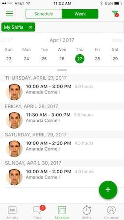Schedule filter