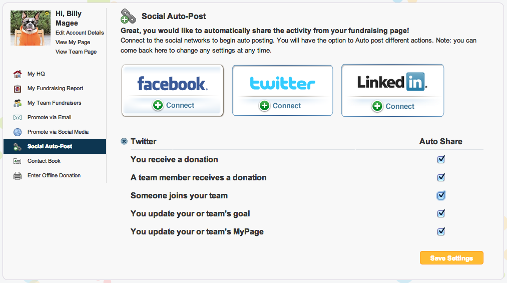 AutoShare feature