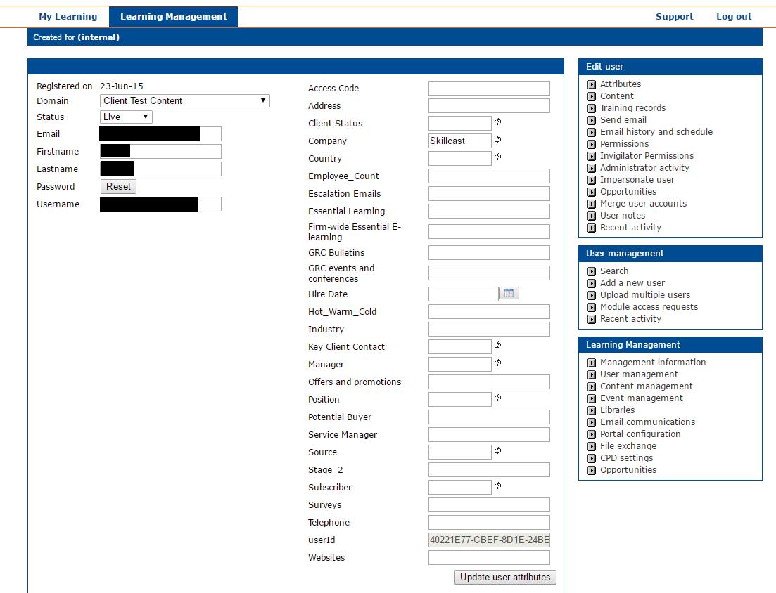 Registrant information