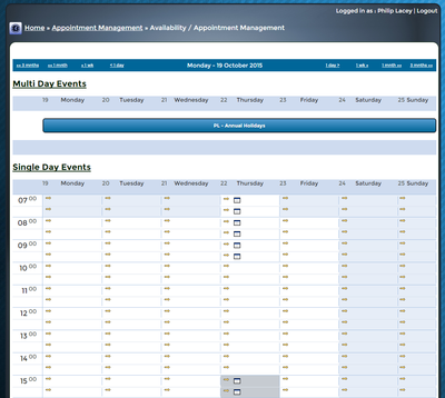 bxp software - Event calendar