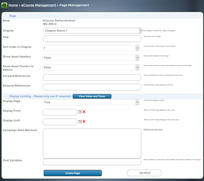 bxp software - Page management