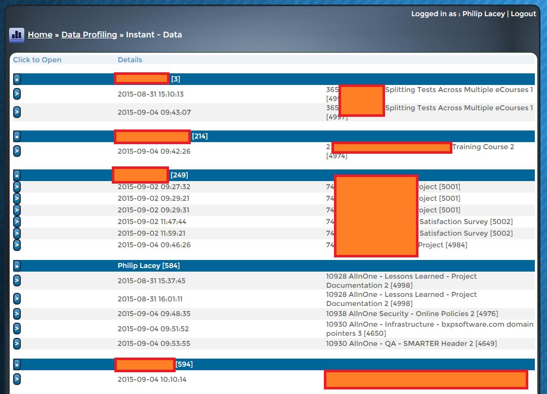bxp software - Data profiling