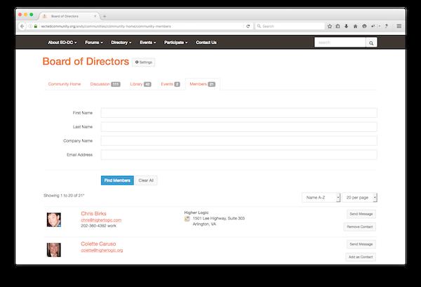 Member directories