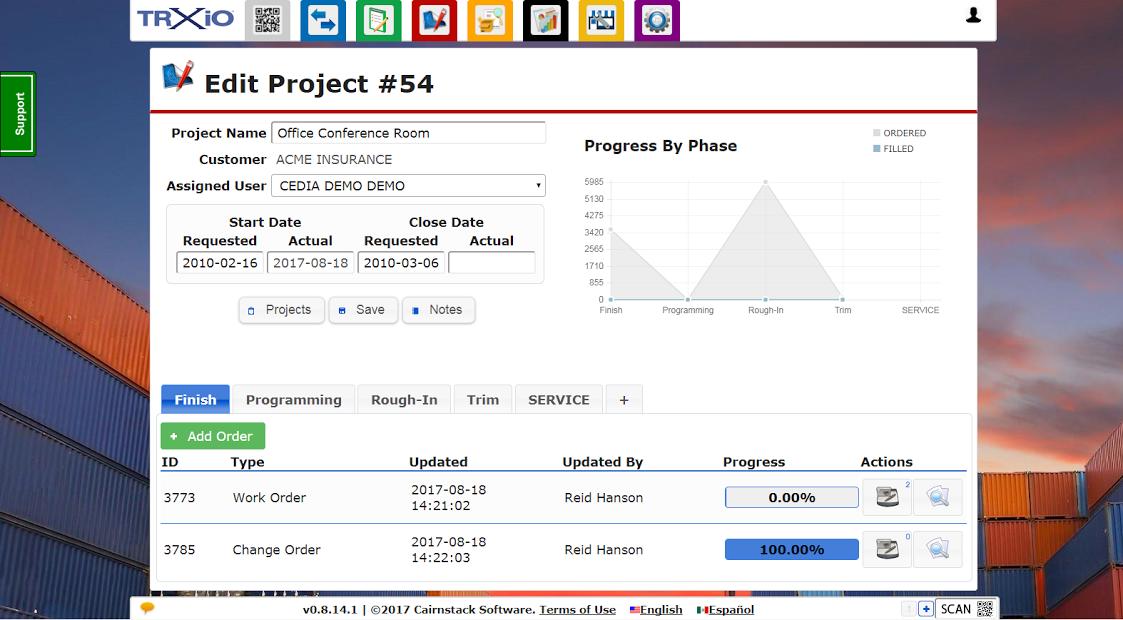 Edit project