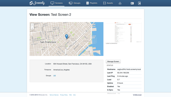 View screen test
