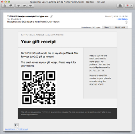 QR-coded receipts