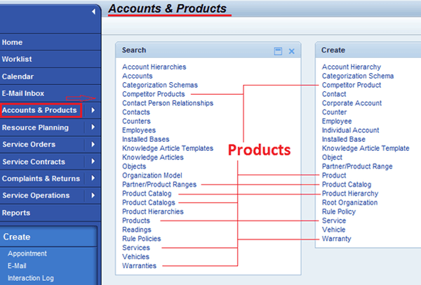Accounts and Products