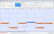 Equipment service calendar