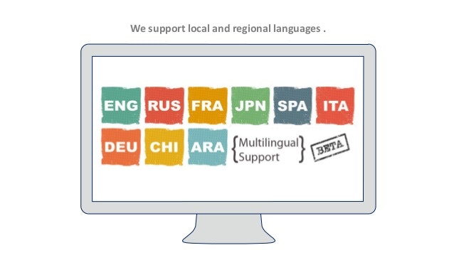 Multilingual support