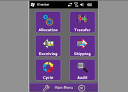 iTracker - Main menu