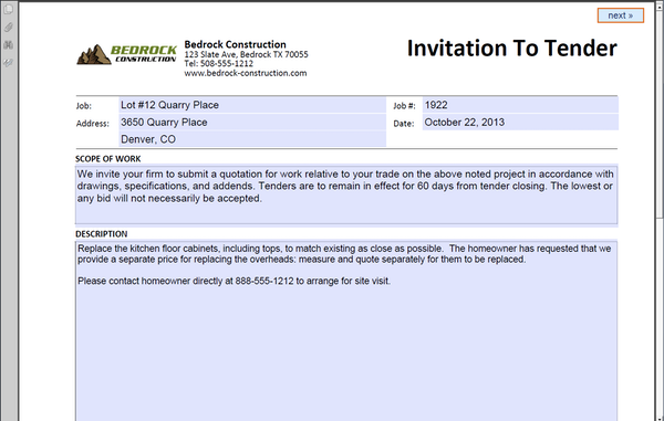 Invite document