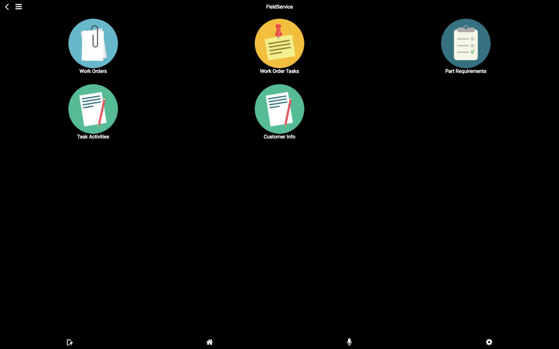 Field service screen