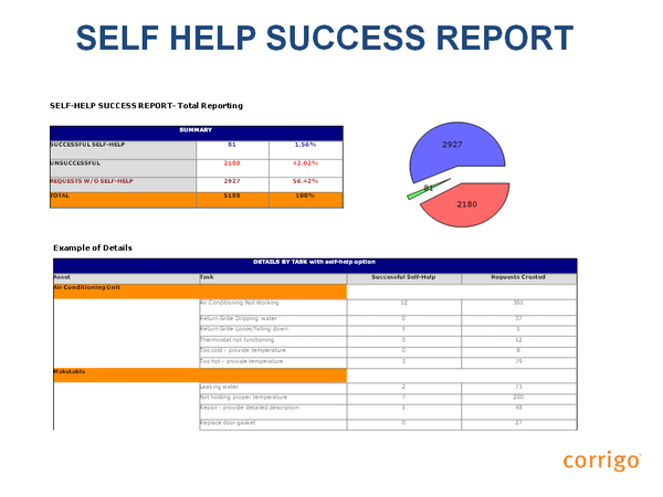 Self help success report