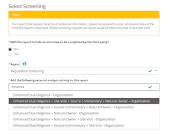 Select screening procedure