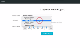 Create new projects