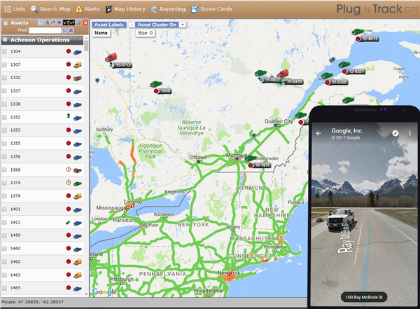 Mapping dashboard and mobile app
