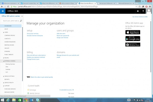 Integration with Office365
