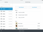 Square Point of Sale - Sale log