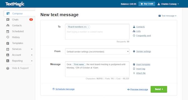 SMS creation