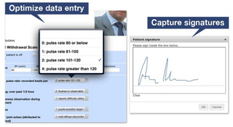 Capture signatures and manage data entry