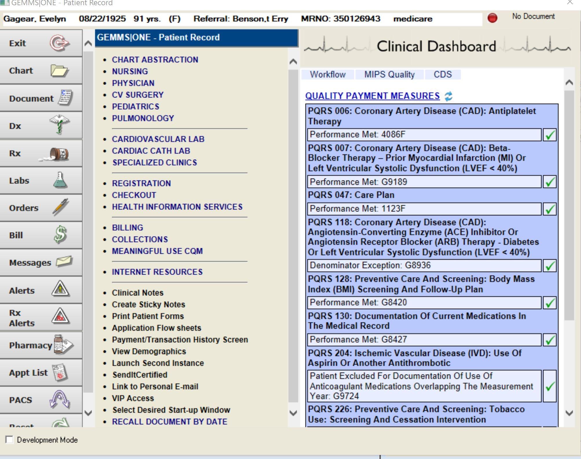 MIPS dashboard