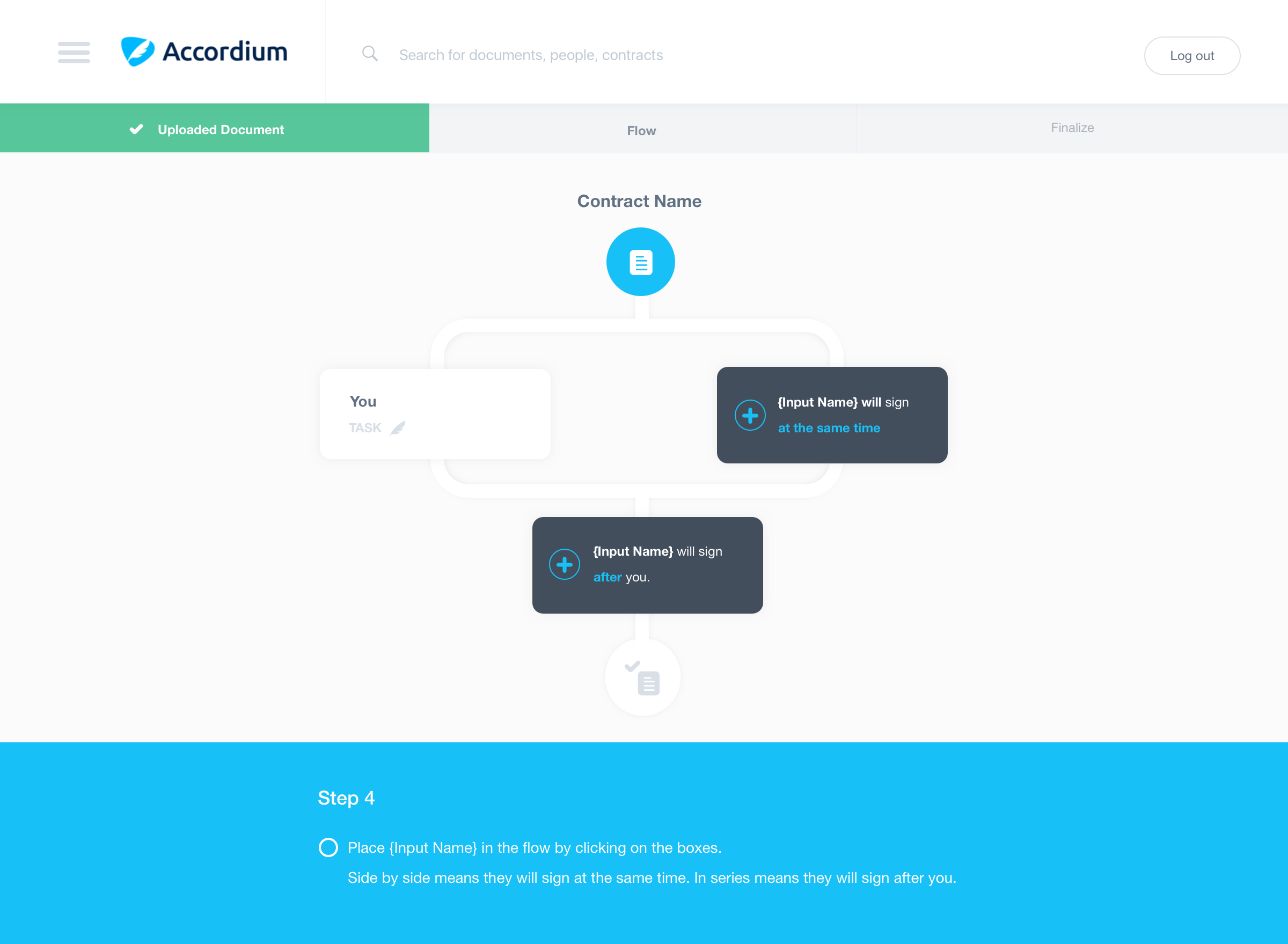 Customizable workflow