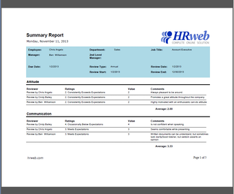 Summary report