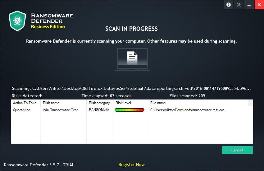 Scan in progress