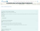 Set communication preferences