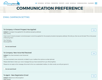 Set communication preferences