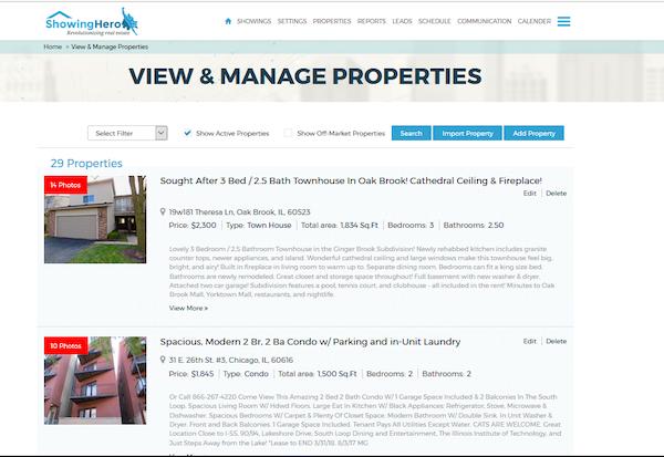 List properties