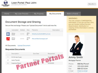 Partner portals (RE brokers, lenders etc.)