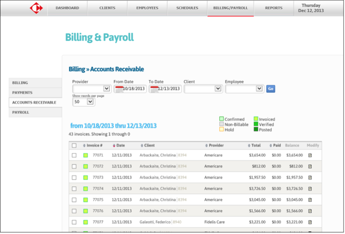 Billing and payroll