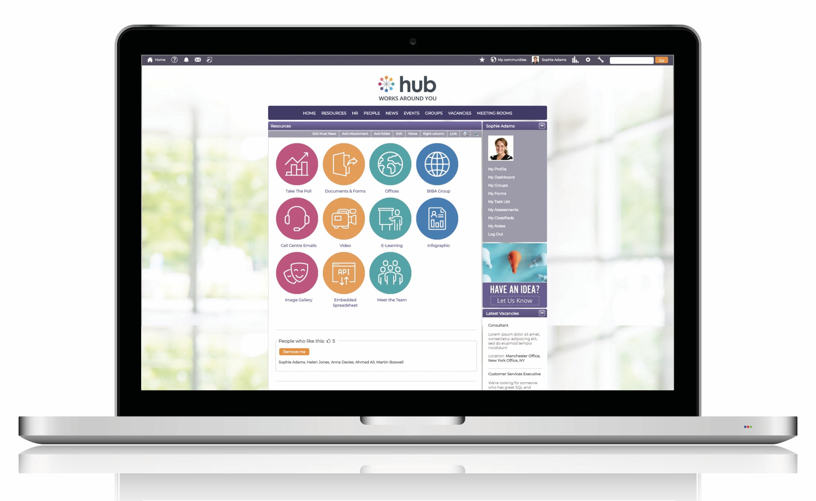 Customizable resource page