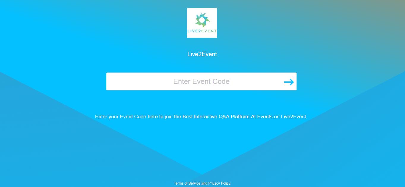 Enter event code