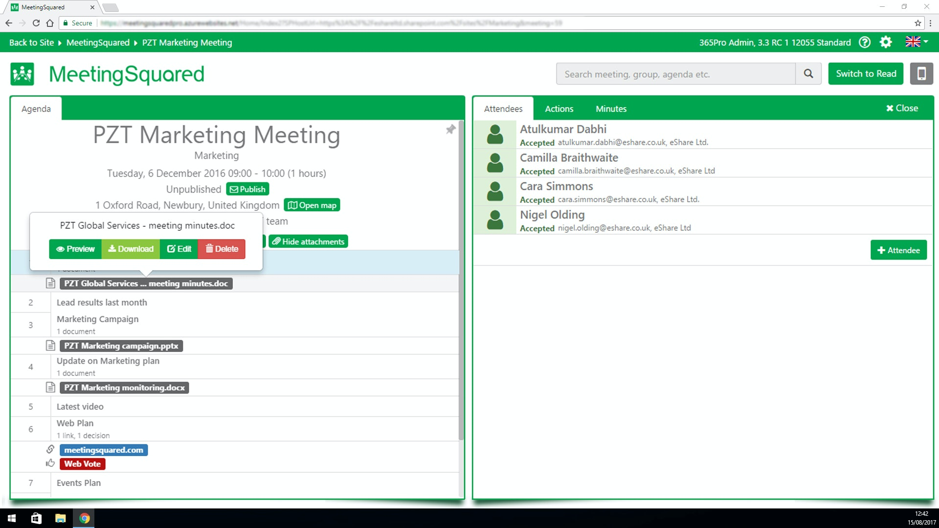 Download meeting minutes