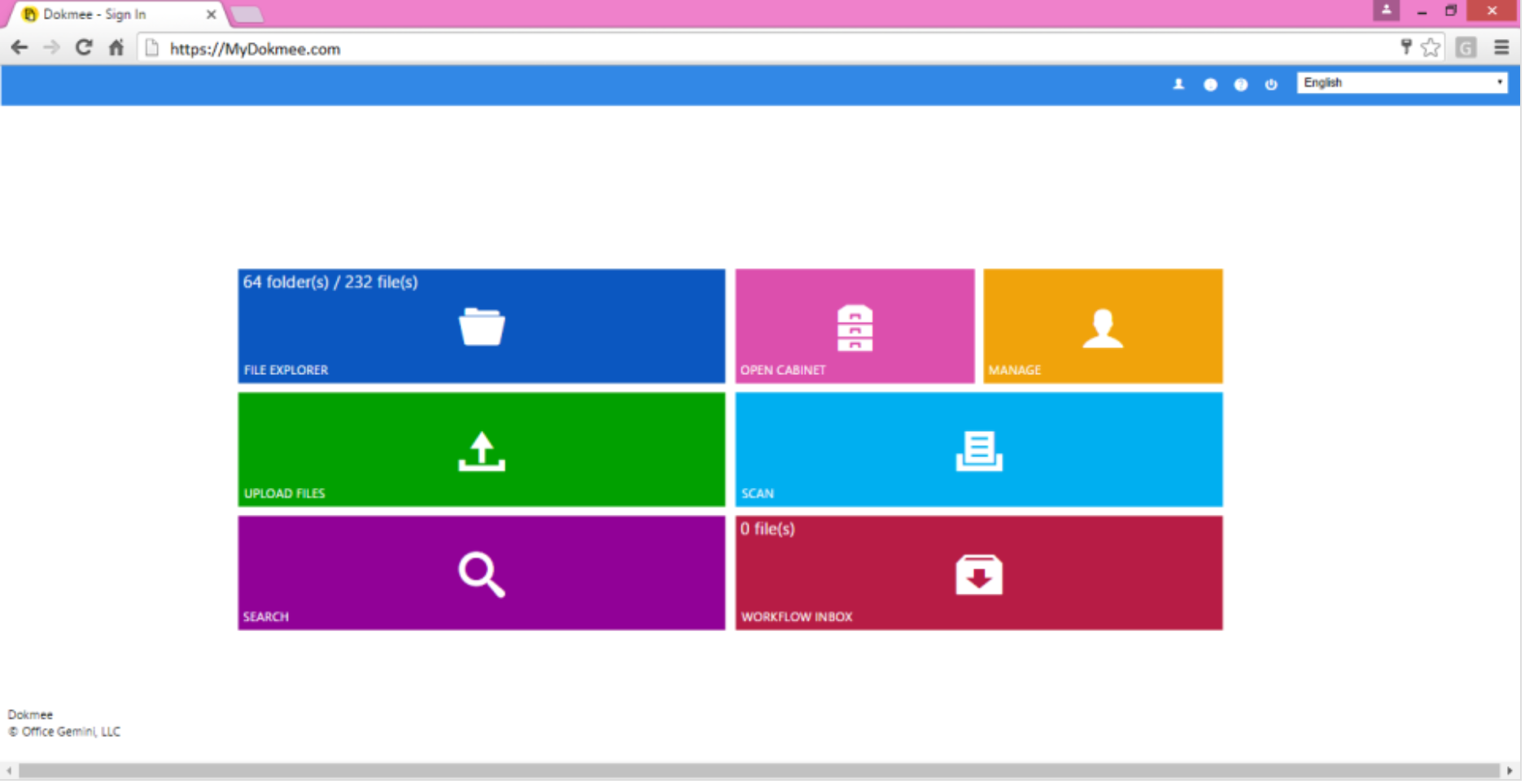 Document capture dashboard