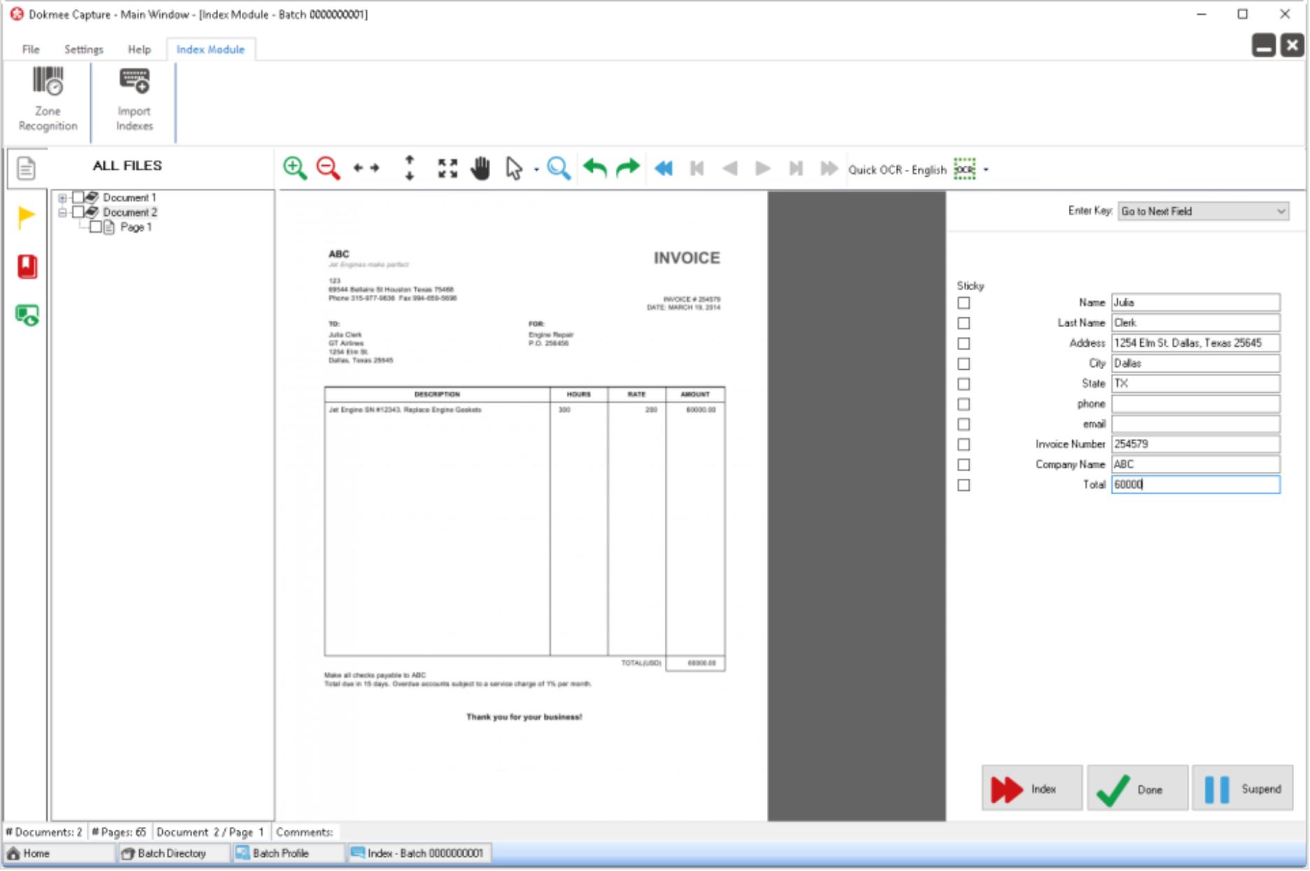 Index files