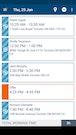 Mobile app schedule