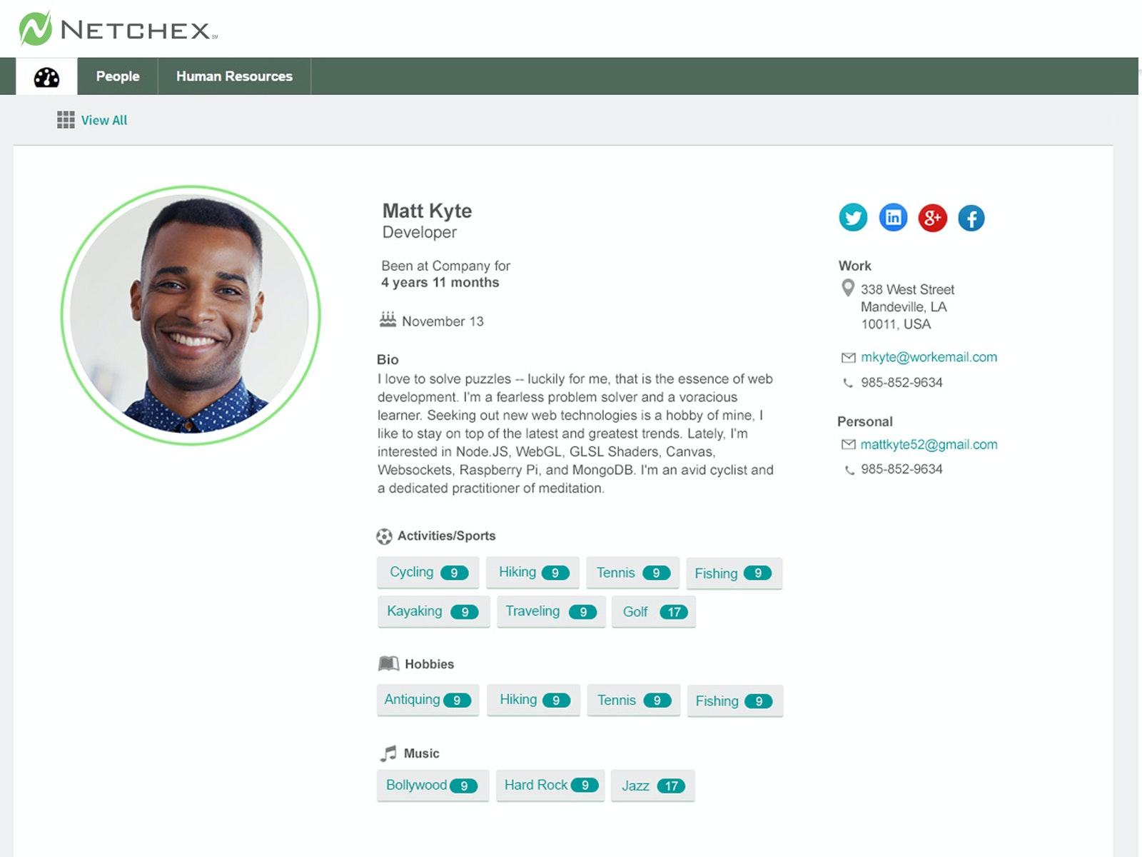 MTT employee profile