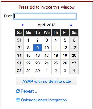 Create due dates