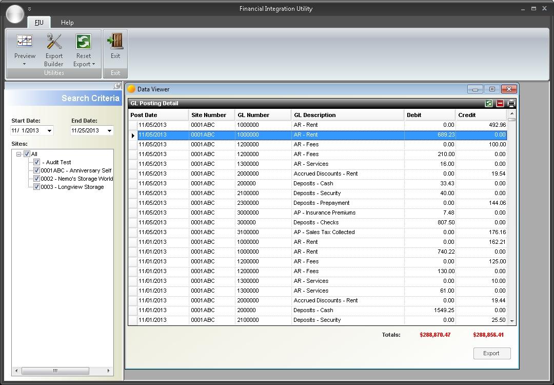 GL export tool