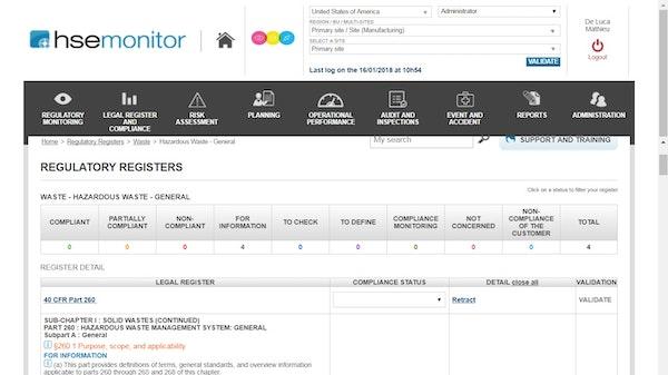 Regulatory registers